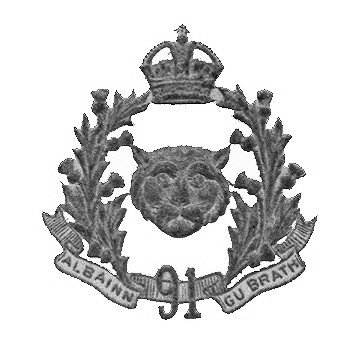Original cap badge for the 91st Canadian Highlanders