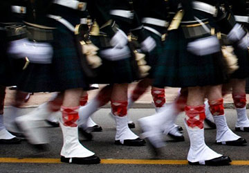 Argylls on Parade